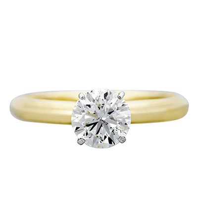 Anillo en oro amarillo de 18 Kilates, diamante 1.00Ct