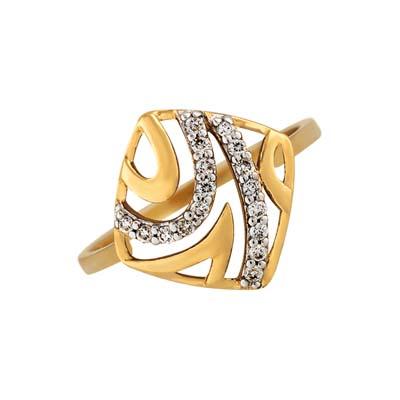 Anillo en oro amarillo de 18 Kilates con 17 diamantes de 0.10Ct peso total