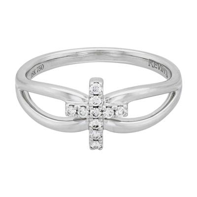 0120002034 - Anillo en oro blanco de 18 Kilates, con diamantes de 0.10 Ct