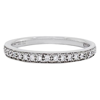 012171F020 - Argolla en oro blanco de 18 Kilates, Centillo, con diamantes de 0.15 Ct, 2 mm. de ancho