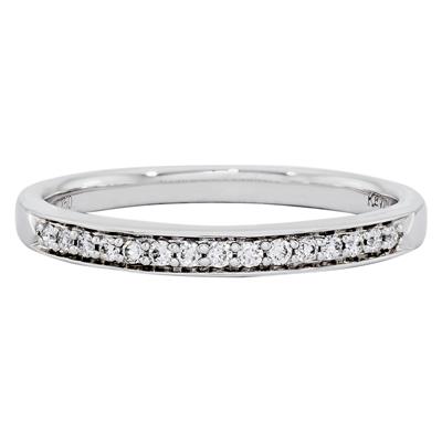 012173M022 - Argolla en oro blanco de 18 Kilates, Centillo, con diamantes de 0.11 Ct, 2 mm. de ancho