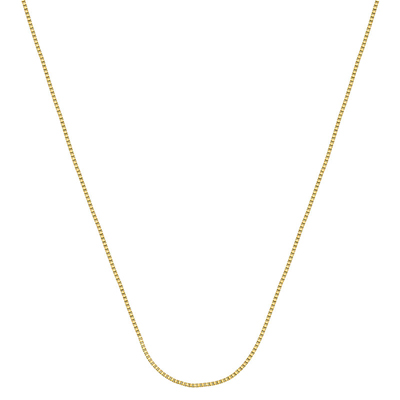 Cadena en oro amarillo de 18 Kilates, tejido veneciana, 40 centímetros de largo, 0.5 milímetros de ancho