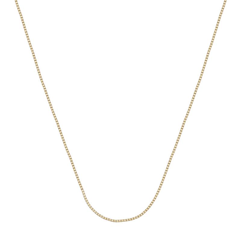 Cadena en oro amarillo de 18 Kilates, tejido veneciana, 45 centímetros de largo, 0.5 milímetros de ancho