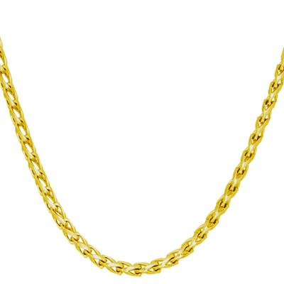 Cadena en oro amarillo de 18 Kilates, tejido franco, 60 centímetros de largo, 2 milímetros de ancho