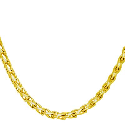 Cadena en oro amarillo de 18 Kilates visos, tejido franco, 60 centímetros de largo, 3 milímetros de ancho