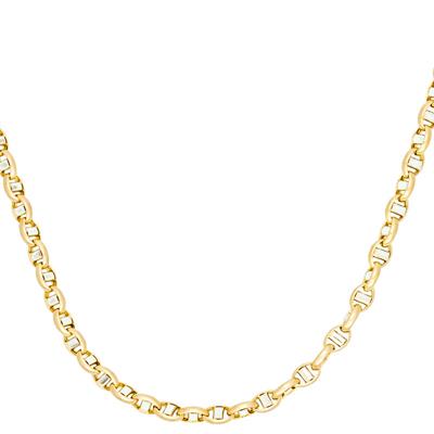 Cadena en oro amarillo de 18 Kilates rodinado, tejido marinero, 60 centímetros de largo, 5.5 milímetros de ancho