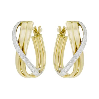 01a823880c10 0610002030 - Candongas en oro amarillo de 18 Kilates con visos