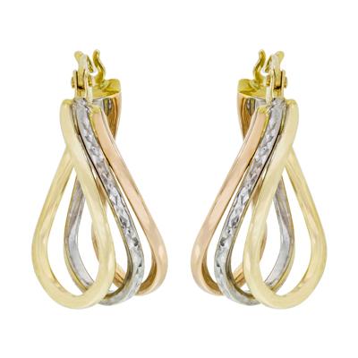 8097a57eaf01 0610004030 - Candongas en oro amarillo de 18 Kilates con visos