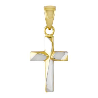 0710001010 - Cruz en oro amarillo de 18 Kilates, Tronco