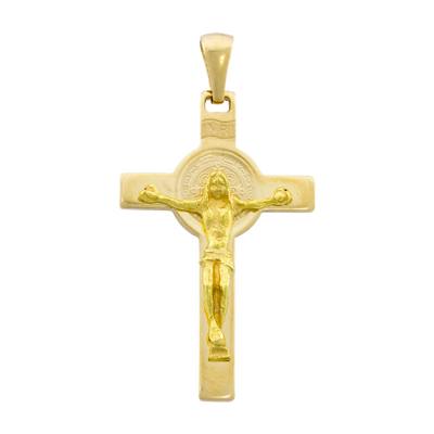 0710207032 - Cruz en oro amarillo de 18 Kilates