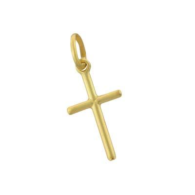 Cruz en oro amarillo de 18 Kilates plana, 18.5 milímetros de ancho