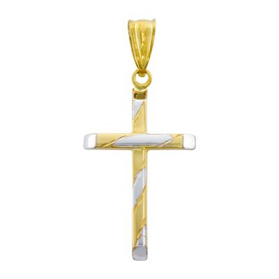 0710609009 - Cruz en oro amarillo de 18 Kilates, Plana