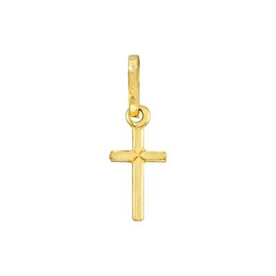 0710901005 - Cruz en oro amarillo de 18 Kilates, Tronco