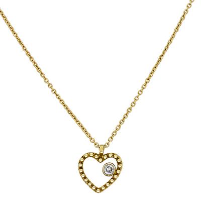 Gargantilla en oro amarillo de 18 Kilates, tejido rolo con diamantes en decoracion de 0.03Ct peso total