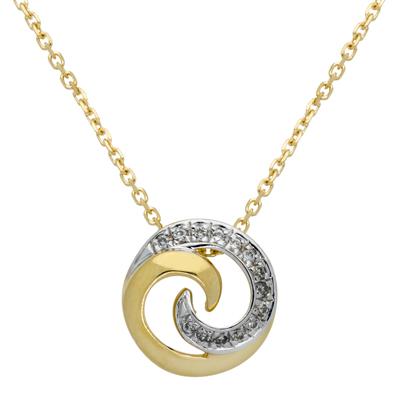 Gargantilla en oro amarillo de 18 Kilates rodinado, tejido rolo con diamantes en decoracion de 0.04Ct peso total, 40 centímetros de largo