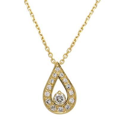 Gargantilla en oro amarillo de 18 Kilates, tejido rolo con diamantes en decoracion de 0.10Ct peso total, 40 centímetros de largo
