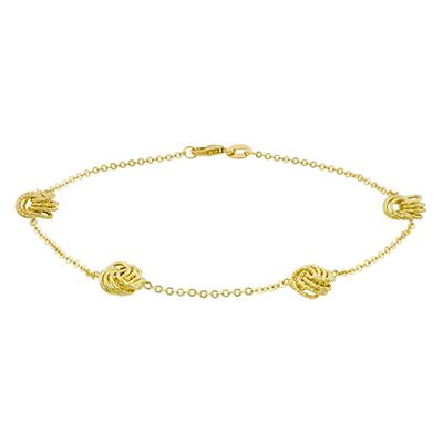 Pulsera en oro amarillo de 18 Kilates visos, Diseño, 20 centimetros de largo, 1.50 milimetros de ancho