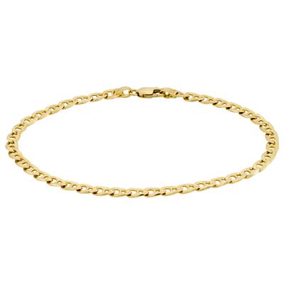 Pulsera en oro amarillo de 18 Kilates, 21 centímetros de largo, 3.5 milímetros de ancho