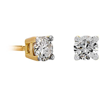 cb2a36495b19 2511702007 - Topo diamante en oro amarillo de 18 Kilates