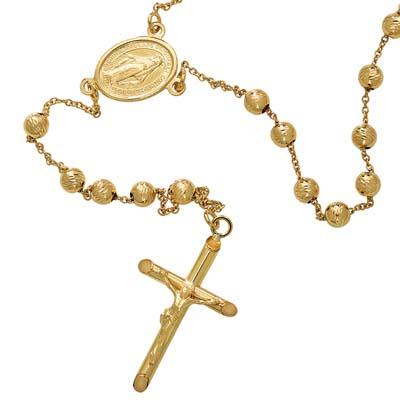 4b514d41e10e 3011901119 - Rosarios-denario en oro amarillo de 18 Kilates con visos