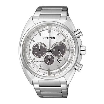 Reloj para Hombre, tablero redondo, silver, puntos, analogo, pulso metalico metalico, cronografo