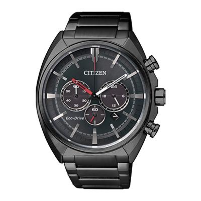 Reloj para Hombre, tablero redondo, gris, puntos, analogo, pulso metalico metalico, cronografo