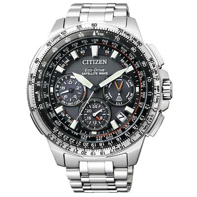 Reloj, tablero redondo, gris, puntos, analogo silver, calendario, cronografo
