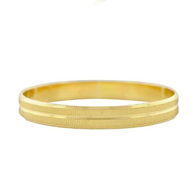Argolla en oro amarillo de 18 Kilates visos plana, 3 milímetros de ancho