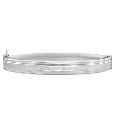 Aro en plata ley 925, satinado plano, 8 milímetros de ancho de la colección sueños