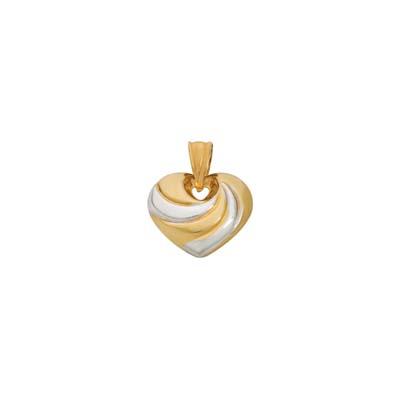 Dije en oro amarillo de 18 Kilates rodinado abombado, 14 milímetros de ancho