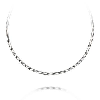 Gargantilla en plata Ley 925, Diseño, 45 centimetros de largo, 3 milimetros de ancho, de la coleccion: Venezia