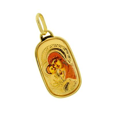 Medalla en oro amarillo de 18 Kilates virgen, 18 milímetros de ancho