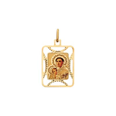 Medalla en oro amarillo de 18 Kilates visos san antonio, 15.5 milímetros de ancho