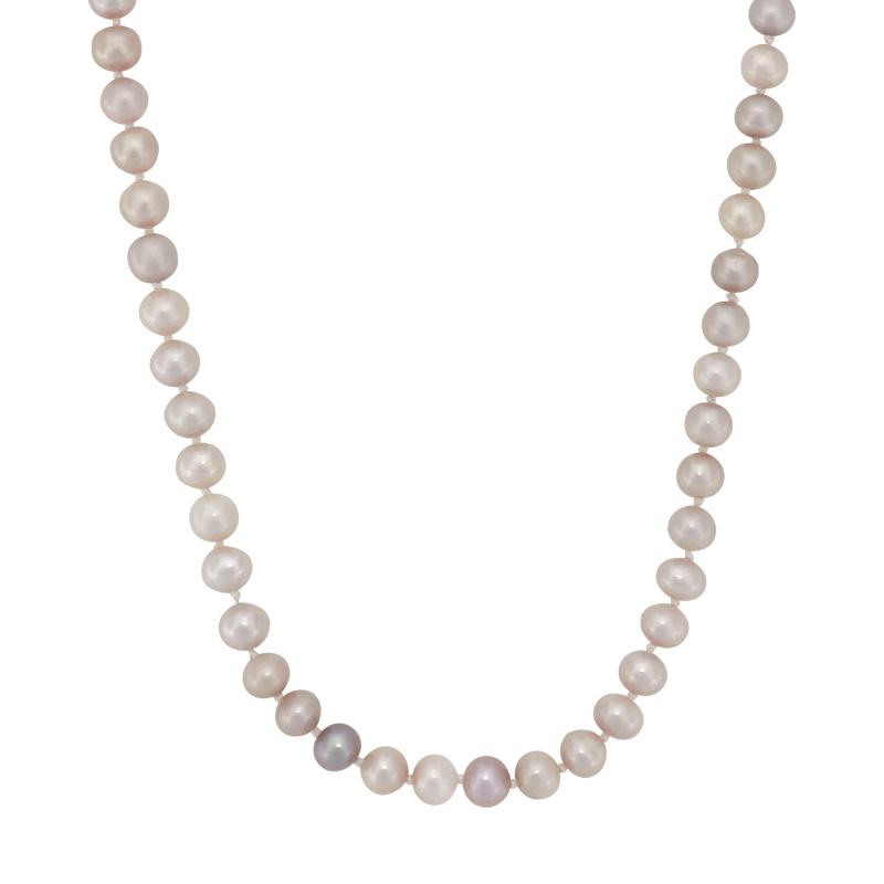 Collar en oro amarillo de 18 Kilates rodinado, tejido diseño con perla, 45 centímetros de largo, 5 milímetros de ancho