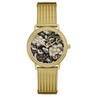 Reloj para Dama, tablero redondo, colores, sin numeros, analogo, pulso metalico metalico