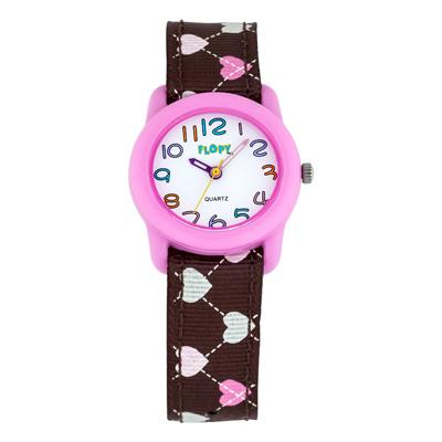 Reloj para Niño, tablero redondo, blanco, arabigo, analogo, pulso <nuevo material> cafe