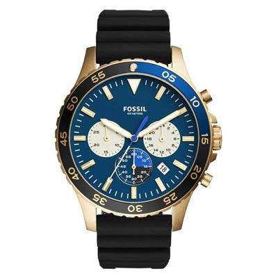 Reloj para Hombre, tablero redondo, azul, index, analogo, pulso silicona negro, calendario