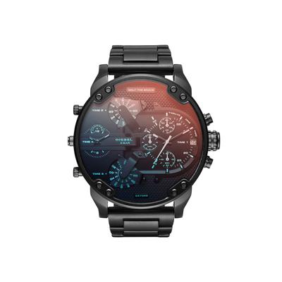 Reloj para Hombre, tablero redondo, index, analogo, pulso metalico metalico, calendario, cronografo