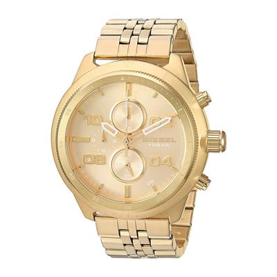 Reloj para Hombre, tablero redondo, dorado, index + arabigo, analogo, pulso metalico metalico
