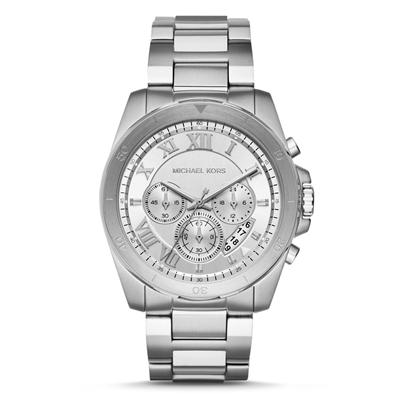Reloj para Hombre, tablero redondo, silver, index + romano, analogo, pulso metalico metalico, calendario