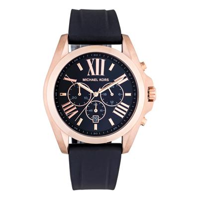 Reloj para Hombre, tablero redondo, negro, index + romano, analogo, pulso silicona negro, calendario