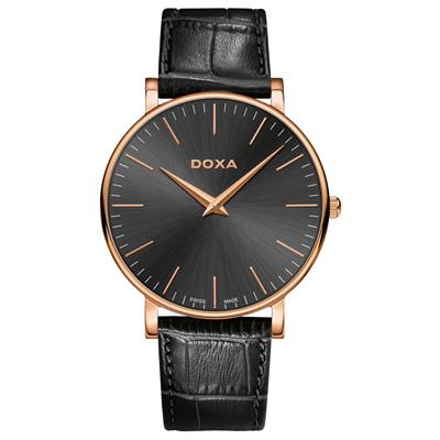 Reloj para Hombre, tablero redondo, gris, index, analogo, pulso cuero negro
