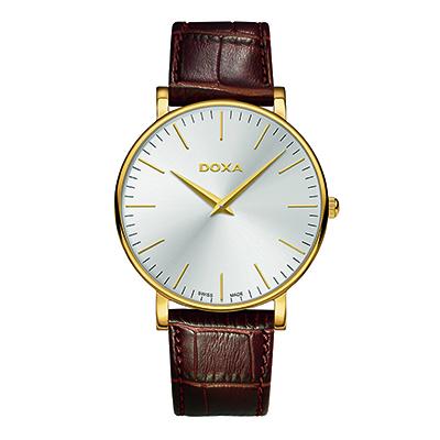 Reloj para Hombre, tablero redondo, silver, index, analogo, pulso cuero cafe