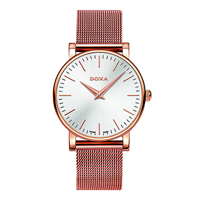 Reloj para Dama, tablero redondo, silver, index, analogo, pulso metalico metalico
