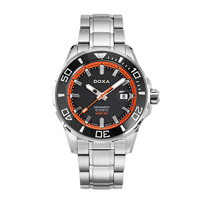 Reloj para Hombre, tablero redondo, blanco+, index, analogo, pulso metalico metalico, calendario