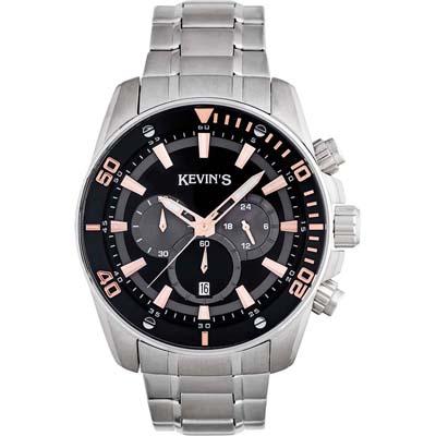 Reloj para Hombre, tablero redondo, negro, index, analogo, pulso metalico metalico