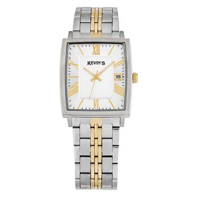Reloj para Dama, tablero redondo, silver, index + romano, analogo, pulso metalico metalico, calendario