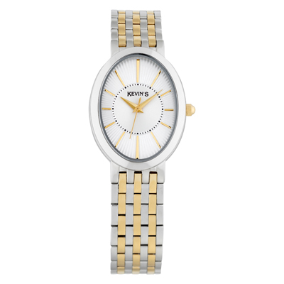 Reloj para Dama, tablero ovalado, silver, index, analogo, pulso metalico metalico