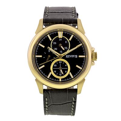 Reloj para Dama, tablero redondo, gris, index, analogo, pulso cuero gris
