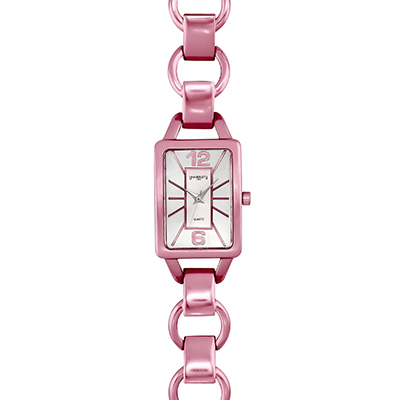 Reloj para Dama, tablero rectangular, silver, index + arabigo, analogo, pulso cuero sintetico aguamarina